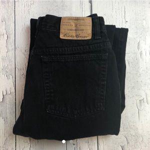 Vintage Eddie Bauer black high waist jeans 10